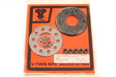 Clutch 5-Stud Nut and Plate Kit for Harley FX & FL 1941-1984
