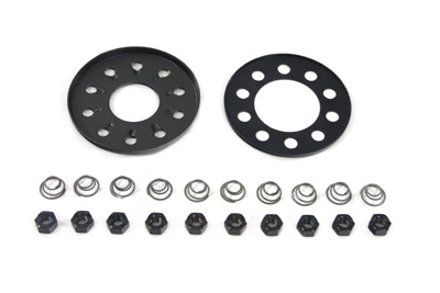 Clutch 10-Stud Nut and Plate Kit for FX & FL 1941-1984 Big Twins