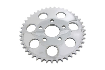 Chrome 44 Tooth Rear Sprocket for 1973-85 Harley Big Twin & XL