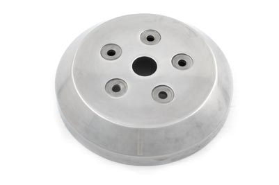 Polished 5 Hole Clutch Dome for Harley Big Twin w/ Open Drive