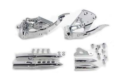 Billet Forward Control Kit Chrome for 2000-2007 SOFTTAIL