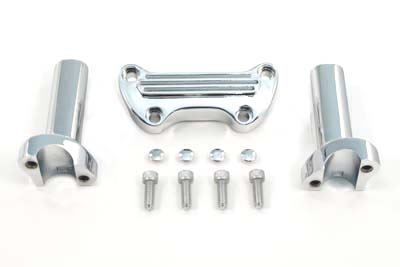 4-1/4 inch Chrome Ribbed Style Straight Riser Kit