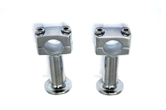 3 inch Wyatt Chrome Post Riser Set