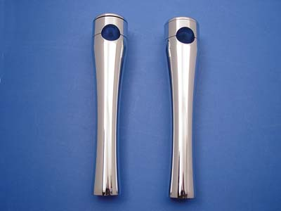 8 in. Smooth Top Glide Riser Set Chrome for Harley & Customs