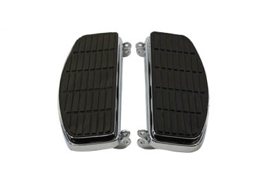 Chrome 'D' Shaped Driver Floorboards for 1940-1985 Harley FL