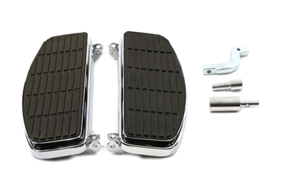Chrome D Shaped Floorboards Kit for FL 1966-1985 Harley Big Twin