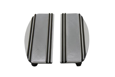 OE Chrome BILLET Driver Floorboards Pad Set for 1980-UP Big Twin