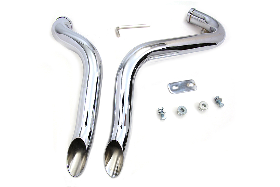 Wyatt Gatling Chrome XL 2004-UP Drag Pipe Set Down Type