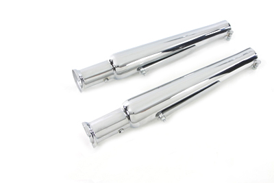 Chrome 20 inch Megaphone Slip-on Muffler set for Big Twin XL Sportster