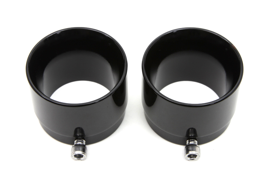 "Black Tips Tapered Style for 2-1/4"" Straight Pipe Exhausts"