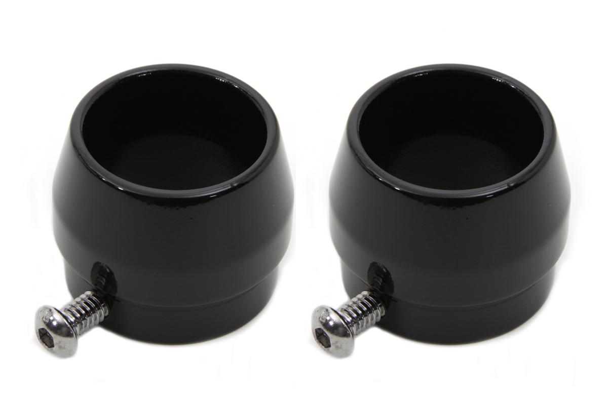 Black Tips Short Tapered Style for 1-3/4 Straight Pipe Exhausts
