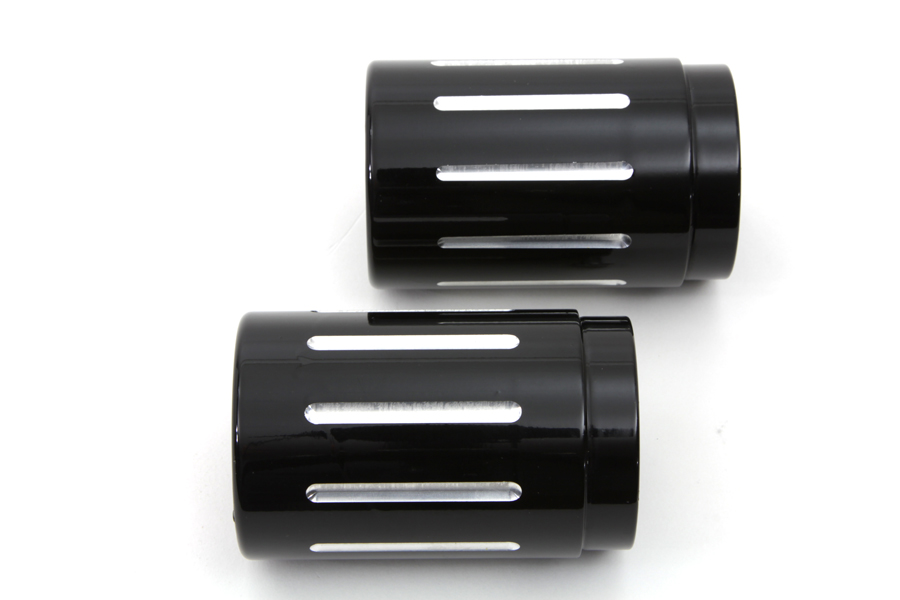 "Black Ball Milled Tips for 2-1/4"" Straight Pipe Exhausts"