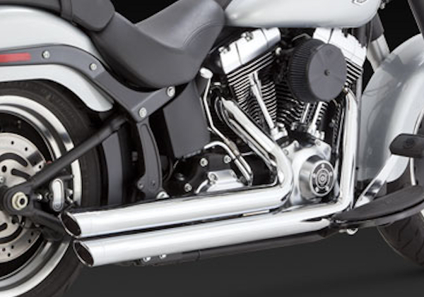 Chrome Big Shots Exhaust Drag Pipe Set for 2012-UP Harley Softails
