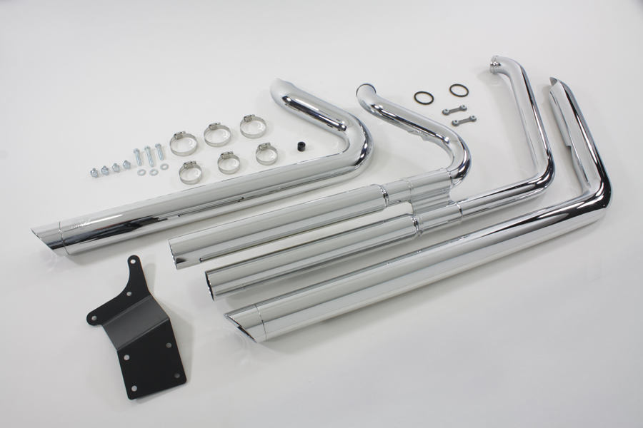 Chrome Big Shots Exhaust Drag Pipe Set for 2012-UP DYNA FXD