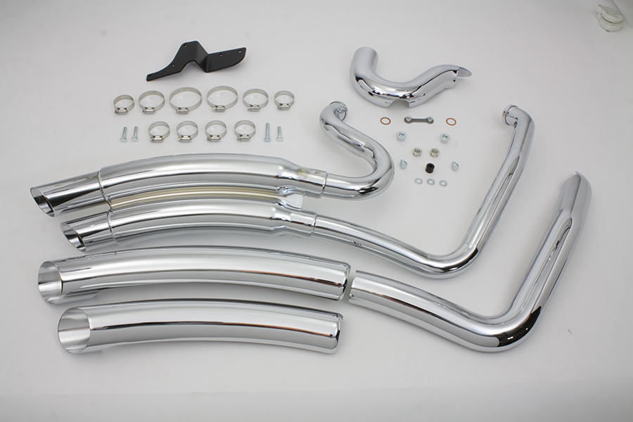Chrome Vance & Hines FXD 2006-UPSuper Radius Exhaust Pipe Set