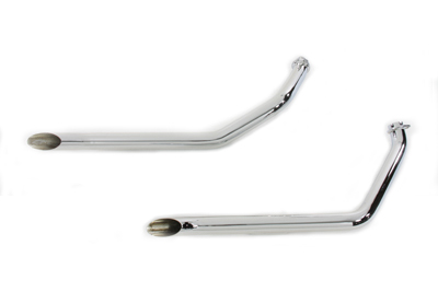 Chrome 1 3/4 in. Goose Style Harley Drag Pipes for 1970-1984 FXE