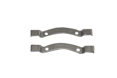 "Chrome Bracket Set for for 12"" and 16"" sissy bars pads"