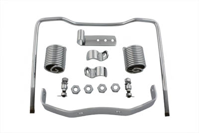 Chrome Auxiliary Seat Spring Kit for 1936-1957 Harley Big Twins