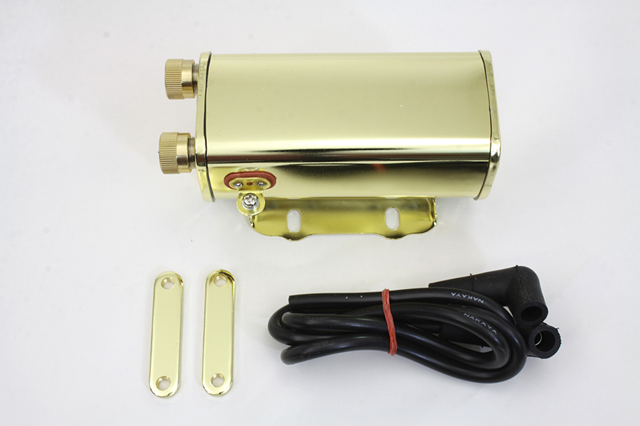 Brass Plated 6 Volt Ignition Coil for 1930-1947 Models
