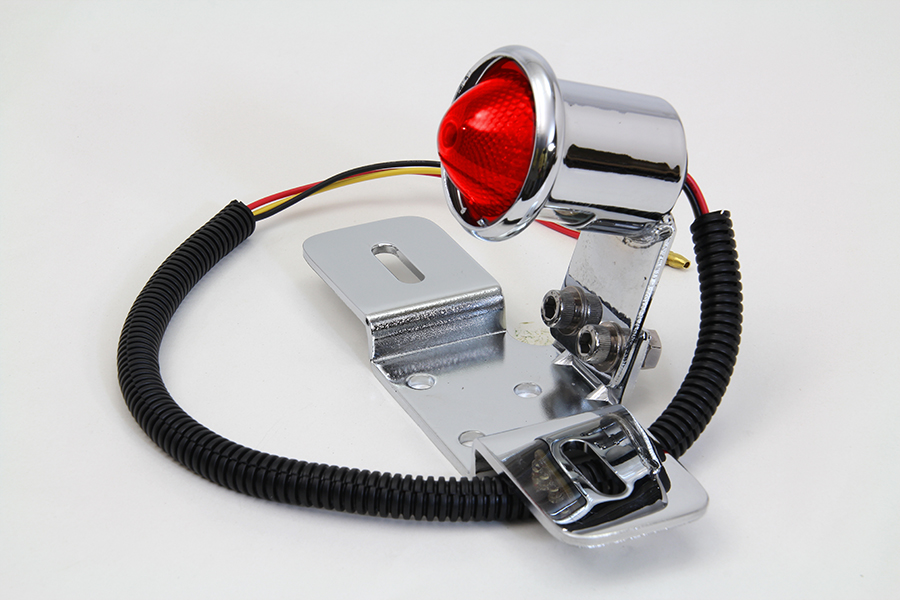 Chrome Universal Red LED Tail Lamp Assembly