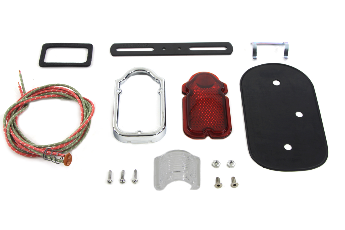 Tombstone Tail Light Parts Kit for FL 1947-1954 Big Twins