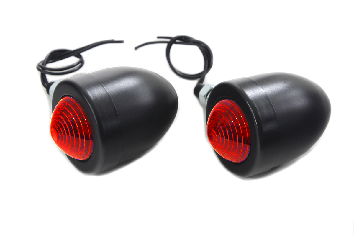 Black Red Marker Lamp Set Double Filament