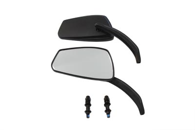 Black BILLET Rectangle Mirrors Set for Harley Big Twin & XL Sportster