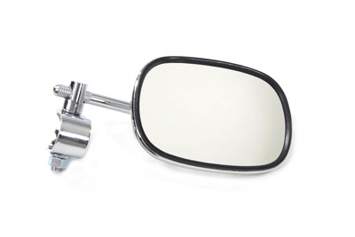 Chrome Rectangle Clamp-on Mirror for Harley Custom