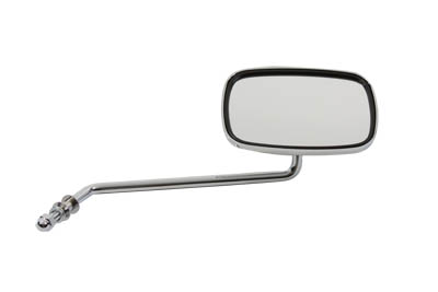Chrome Rectangle Long Stem Right Side Mirror for Harley Custom