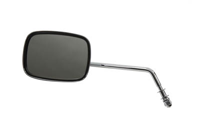 Chrome Rectangle Long Stem Left Side Mirror for Harley Custom