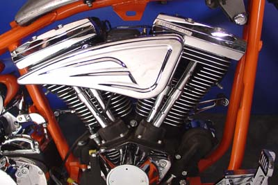 Chrome Billet Sweeper Air Cleaner for 1988-UP Harley Big Twin & XL