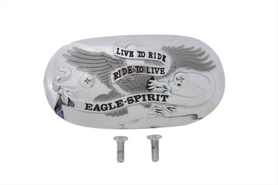 Chrome Eagle Spirit Oval Air Cleaner Insert 1966-03 Harley XL FL FX