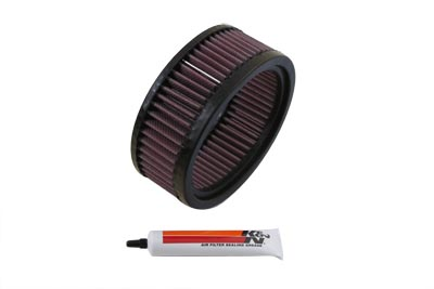 K&N 2 1/2 in. Tall Air Filter for Harley Big Twin & XL Sportster