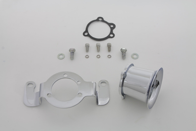 Chrome 2.5 in. Velocity Stack Kit for Harley 1984-1989 Big Twins