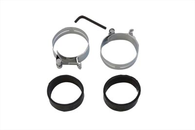 Chrome Intake Manifold Clamp Set for Harley FL & XL 1978-1984