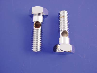 Chrome Breather Banjo Bolt Set for 1991-UP Big Twins & Sportsters