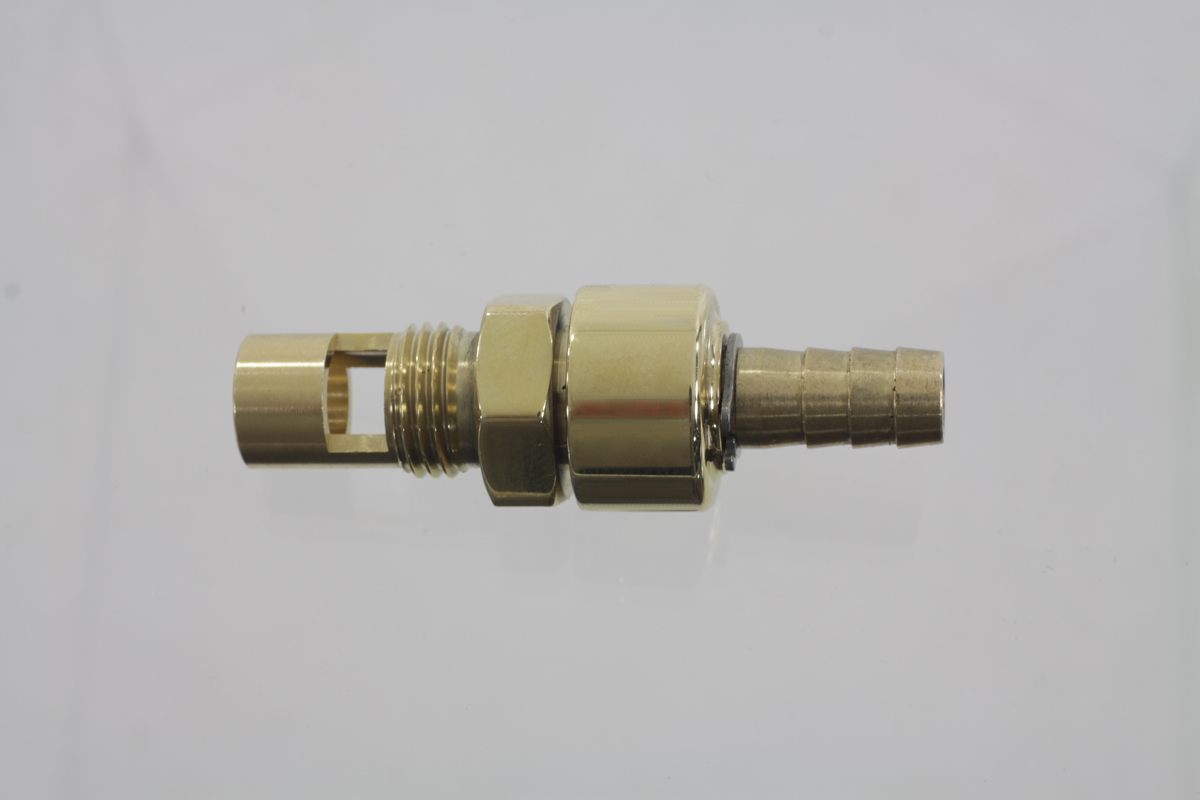 Brass Petcock, replaces the needle valve seat on S&S E