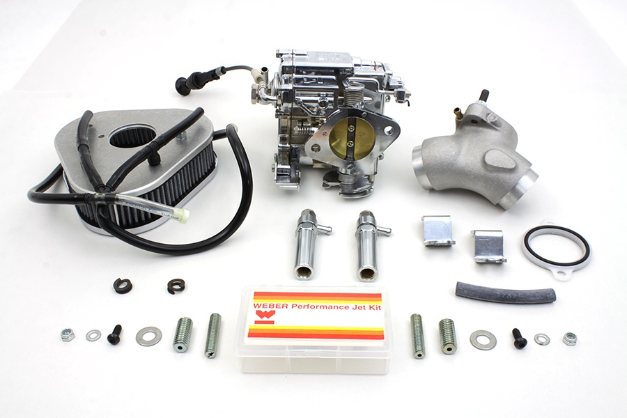 Billet Weber 88 in. Carburetor Kit for 1999-UP FLST-FXD-FXST