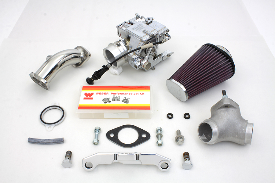Weber 80 inch Carburetor Kit for 1984-1998 FX & FL Big Twins