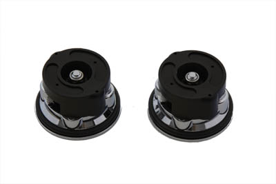 Chrome Aircraft Style Gas Caps Set for Harleys & Customs