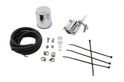 Pura Flow Chrome Universal Oil Filter Kit for Harley Big Twins & XL