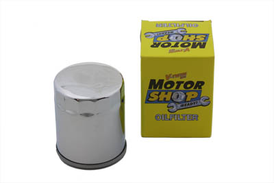 Magnetek Chrome 3.75 in. Oil Filter for 1980-UP Harley Big Twins & XL