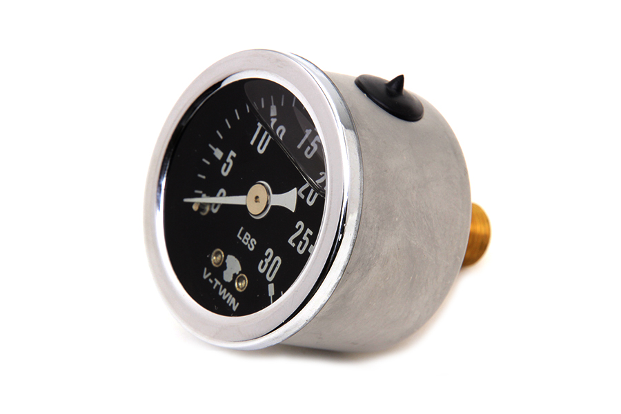Black Face Liquid Filled Oil Pressure Gauge