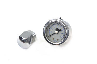 Chrome Nugget Oil Gauge Kit for 1957-1970 XL & FL Harley