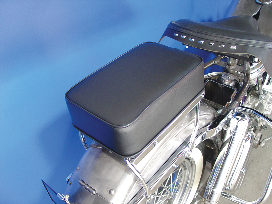Black Luggage Rack Pad Kit for 1936-84 EL FL Harley Big Twin