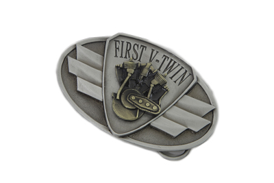 First V-Twin Oval Belt Buckle