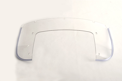 Beaded Clear National Lower Windshield 1960-84 Harley FL Big Twin
