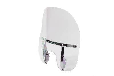 Clear 2-Up Detachable Windshield for 39mm Harley Big Twins