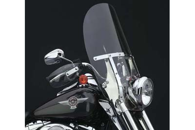 Clear 2-Up Detachable Windshield for FLST 1986-UP w/ 41mm Forks