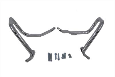 Chrome Rear 7/8 in. Engine Bar Set for FLST-FXST 2000-UP Harley